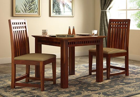 b262440f7d 2 Seater Dining Table Set | WoodenStreet.co.uk